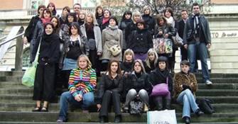 Alumnas francesas de peluquería en Bilbao